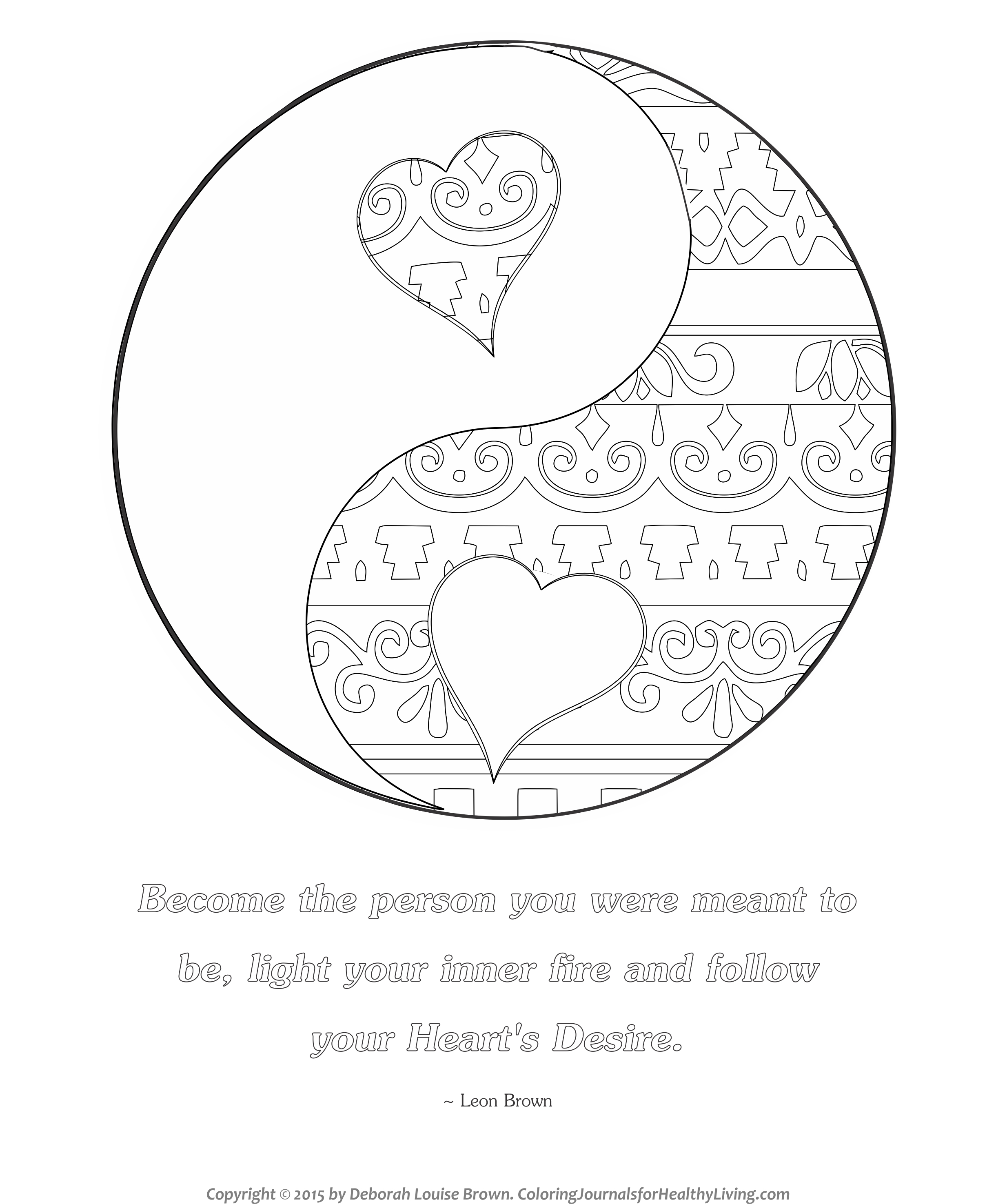 Free Coloring Pages Coloring Journals for Healthy Living